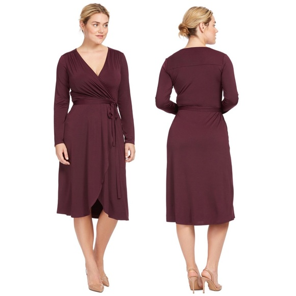 65ed79bd15 ... Plum Jersey Wrap Dress 1X. M 5b6e120f7ee9e2c4ec9927ec